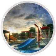 Water Round Beach Towel