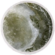 Water Spout 2 Round Beach Towel