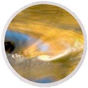 Water Swirl Round Beach Towel