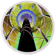 Water Tower Belly V Round Beach Towel