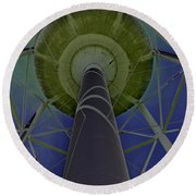 Water Tower Belly Vi Round Beach Towel