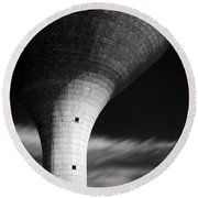 Water Tower Round Beach Towel by Dave Bowman
