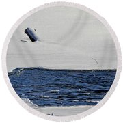 Water Trail Round Beach Towel