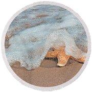 Water Veil Round Beach Towel