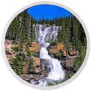 Water Water And More Water Hence Waterfall Round Beach Towel