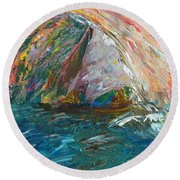 Water Water Everywhere - Section Round Beach Towel