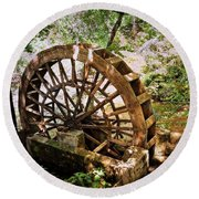 Water Wheel Round Beach Towel by Marty Koch