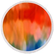 Watercolor 1 Round Beach Towel by Amy Vangsgard