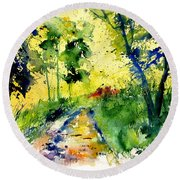 Watercolor 318012 Round Beach Towel
