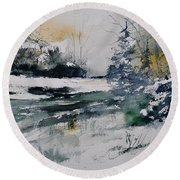 Watercolor 411072 Round Beach Towel