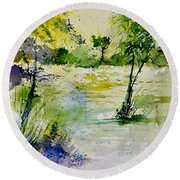 Watercolor 413022 Round Beach Towel
