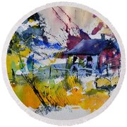 Watercolor 413050 Round Beach Towel