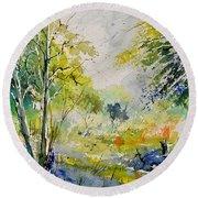 Watercolor 414061 Round Beach Towel