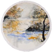 Watercolor 45417042 Round Beach Towel