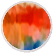 Watercolor 5 Round Beach Towel