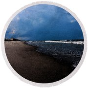 watercolor Beach Round Beach Towel