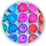 Watercolor Round Beach Towel