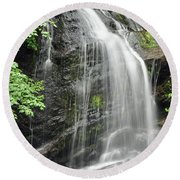 Waterfall Bay Of Fundy Round Beach Towel