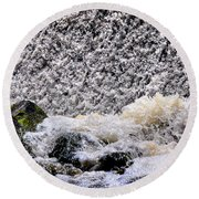 Waterfall Dance Round Beach Towel