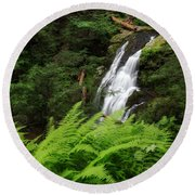 Waterfall Fern Square Round Beach Towel