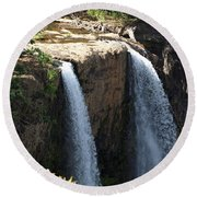 Waterfall From The Top Round Beach Towel