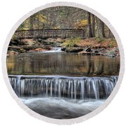 Waterfall - George Childs State Park Round Beach Towel