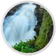Waterfall - High Water On Falls Brook Round Beach Towel
