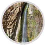 Waterfall In Ronda Round Beach Towel