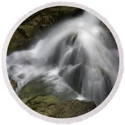 Waterfall In The Rocks Round Beach Towel