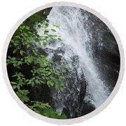 Waterfall Mine Kill State Park New York Round Beach Towel