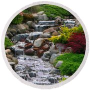Waterfall Round Beach Towel by Tom Prendergast