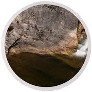 Waterfall - Vital Cascade Round Beach Towel