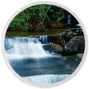 Waterfalls Of Carreck Creek Round Beach Towel