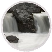 Waterfalls On Nigel Creek Round Beach Towel