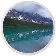 Waterfowl Lake Round Beach Towel
