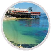 Waterfront At Cannery Row Round Beach Towel