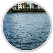 Waterfront Colors Round Beach Towel