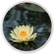 Waterlilly 1 Round Beach Towel