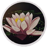 Waterlilly Round Beach Towel