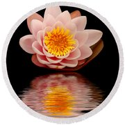 Waterlily Round Beach Towel