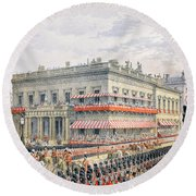 Waterloo Place And Pall Mall Round Beach Towel