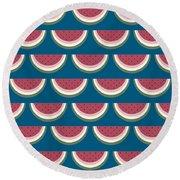Watermelon Pattern Round Beach Towel