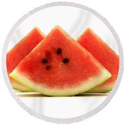 Crimson Sweet Watermelon Round Beach Towel