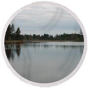 Water's Calm Round Beach Towel