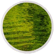 Water's Green Round Beach Towel by Roxy Hurtubise