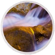 Waters Of Zion Round Beach Towel