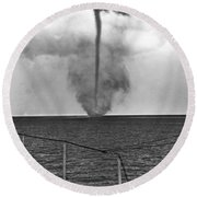 Waterspout In China Round Beach Towel