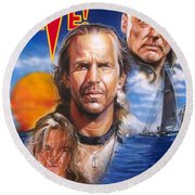 Waterworld Round Beach Towel