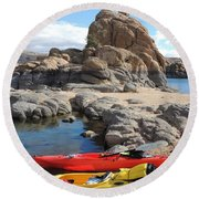 Watson Lake Round Beach Towel by Diane Greco-Lesser