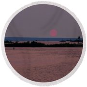 Waubaushene Sunset Round Beach Towel